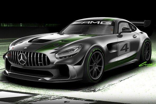 So sieht die GT4-Version des Mercedes-AMG GT R aus - Foto: Mercedes-Benz