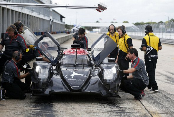 Der Oreca-LMP2 des Rebellion-Teams bei den jüngsten Testfahrten in Sebring - Foto: Dunlop