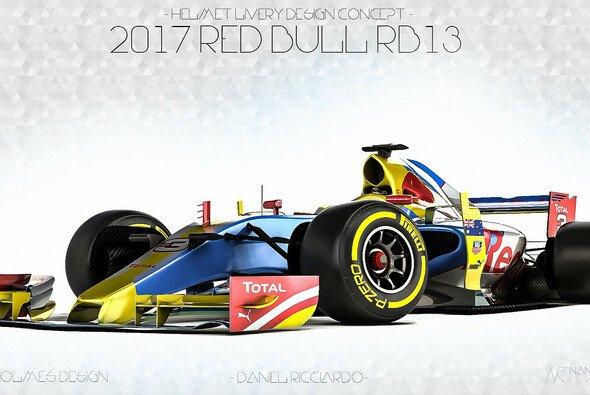 So könnte der RB13 im Helm-Design von Daniel Ricciardo aussehen - Foto: Zoki Nanco - Nancorocks