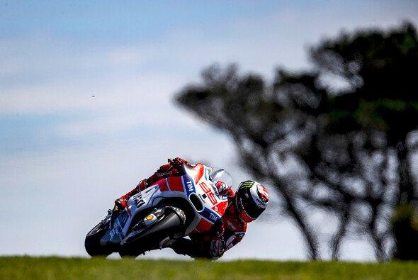 Jorge Lorenzo konnte Phillip Island erst am Freitag genießen - Foto: Ducati