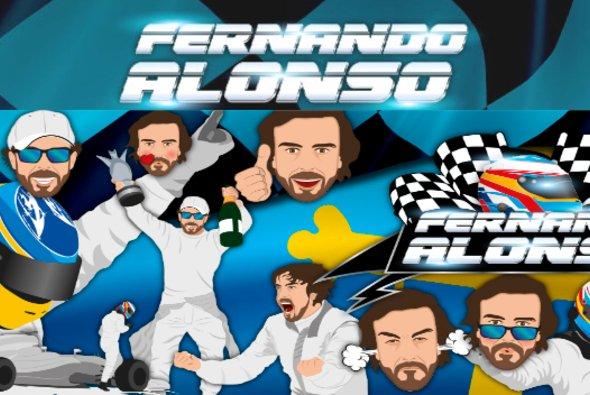 Ein Fernando Alonso für jeden Gemütszustand in Nachrichten - Foto: Motorsport-Magazin.com/Screenshot