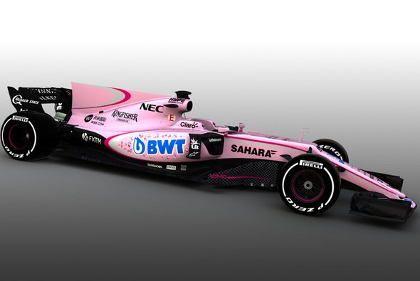 Force India tritt in ungewohnten Farben an - Foto: Force India