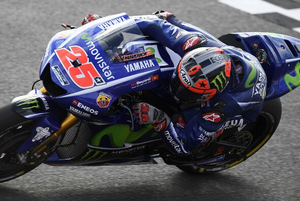 Maverick Vinales war im Warm Up vorn