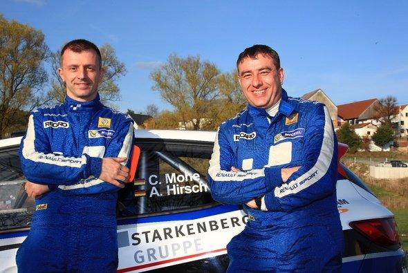 Maximale Punktzahl im ADAC Rallye Masters: Carsten Mohe und Alexander Hirsch (Renault Clio R3T) - Foto: RB Hahn