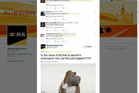 Unglaublich, aber wahr: Ferrari mischt mal mit beim Twitter-Fun der F1-Teams - Foto: Twitter
