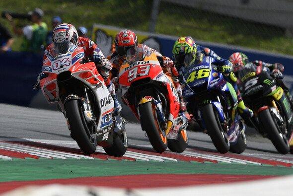 Nur im ersten Renndrittel war Yamaha mit Honda und Ducati auf Augenhöhe - Foto: Ducati