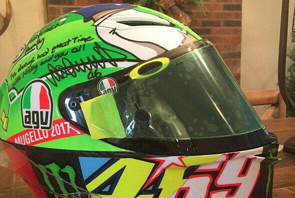 Valentino Rossis Helm aus Mugello 2017 - Foto: Twitter/Roger Hayden