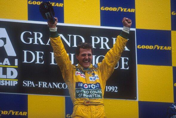 Michael Schumacher legte 1992 mit seinem ersten Formel-1-Sieg in Spa den Grundstein für seine unvergleichliche Karriere - Foto: LAT
