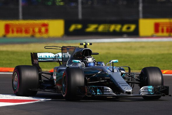 Valtter Bottas fuhr im Mercedes die Bestzeit im 1. Training in Mexiko - Foto: LAT Images