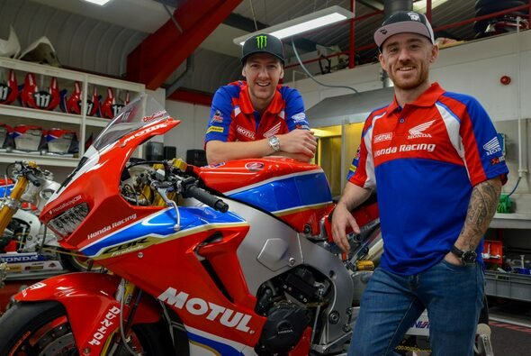 Ian Hutchinson und Lee Johnston starten 2018 für Honda - Foto: Honda Racing