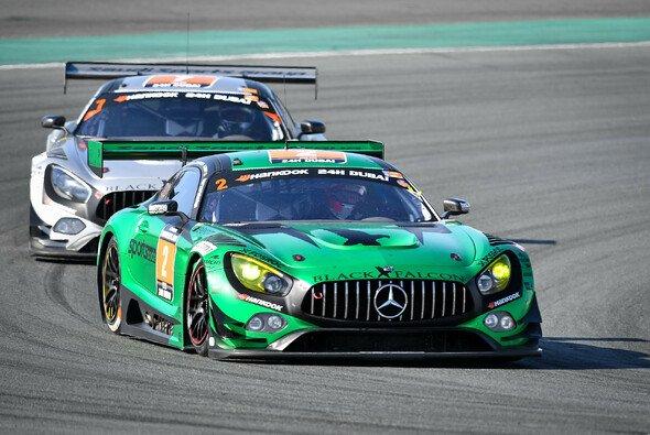 Al-Faisal / Haupt / Buurman / Piana im Black-Falcon-Mercedes #2 gewinnen die 24h von Dubai 2018 - Foto: Mercedes-AMG