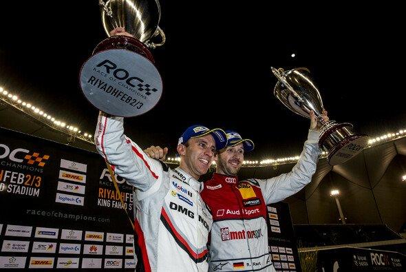 Rene Rast und Timo Bernhard holten für Deutschland den Sieg im Nations Cup des Race of Champions 2018 - Foto: Race of Champions