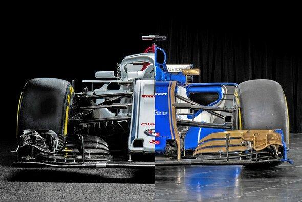 Der Sauber C37 für die Formel-1-Saison 2018 im direkten Vergleich mit seinem Vorgänger - Foto: Sauber