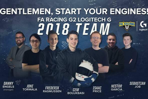 Das eSports-Rennteam von Fernando Alonso reist zum Finale nach Wien - Foto: FA Racing G2 Logitech G/Twitter
