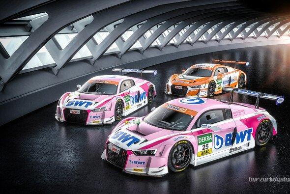 2018 stehen drei Audis in der Garage von BWT Mücke Motorsport - Foto: BWT Mücke Motorsport/Berzerkdesign