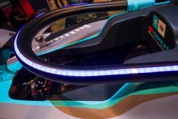 Mit LED-Lichterring: So sieht der Halo-Schutz in der Formel E aus - Foto: LAT Images