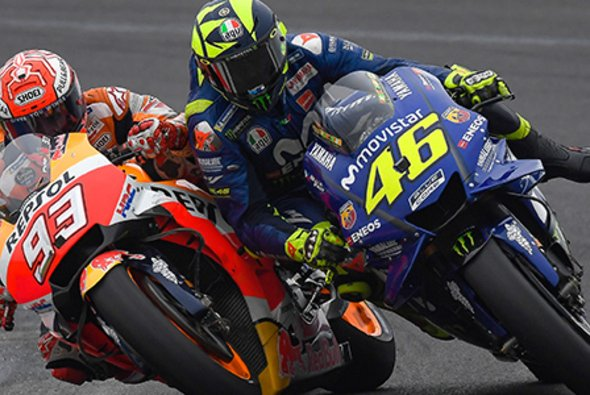 Marc Marquez räumte Valentino Rossi ab - Foto: MotoGP