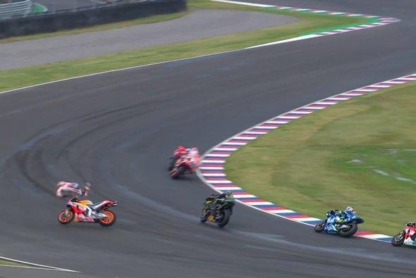 Dani Pedrosa ging in Argentinien hart zu Boden - Foto: Screenshot/MotoGP