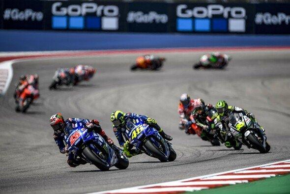 Vinales und Rossi mischten in Austin im Spitzenfeld mit - Foto: Movistar Yamaha