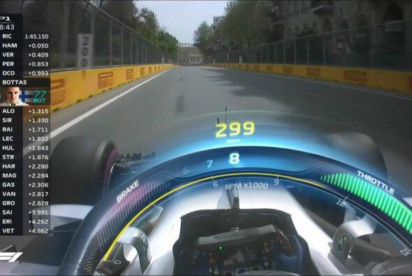Die Halo-Einblendung zeigt Geschwindigkeit, Drehzahl, Gang und Fahrereingaben - Foto: Screenshot/Formula 1