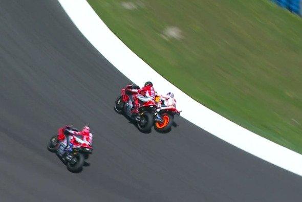 Szenen wie diese ärgern Kevin Schwantz maßlos - Foto: MotoGP/Screenshot