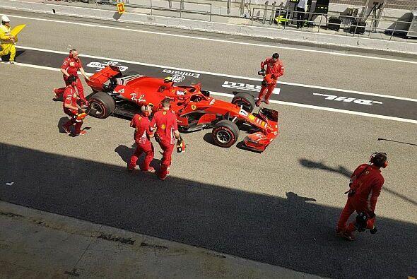 Kimi Räikkönen musste im FP2 den Ferrari abstellen - Power Unit - Foto: Motorsport-Magazin.com