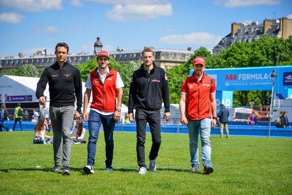 Lotterer, Abt, Engel und Heidfeld sprechen gemeinsam über ihr Heimrennen - Foto: Formel E