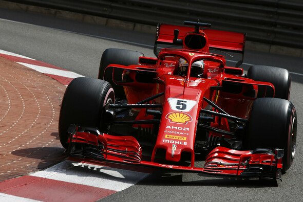 Ferrari und Sebastian Vettel, die ersten Red-Bull-Jäger in Monaco - Foto: LAT Images
