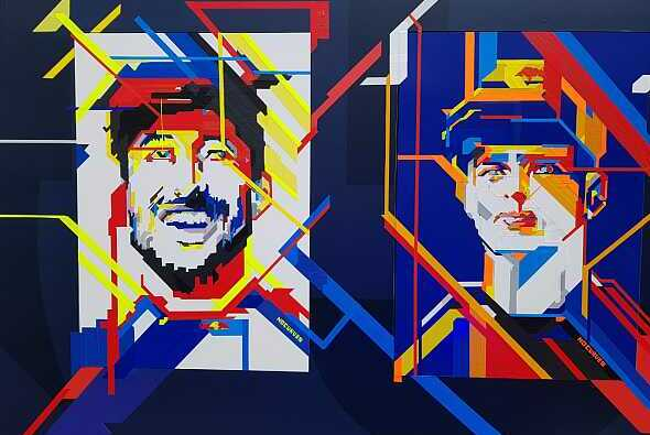 Kunst bei Red Bull in Monaco - Foto: Motorsport-Magazin.com