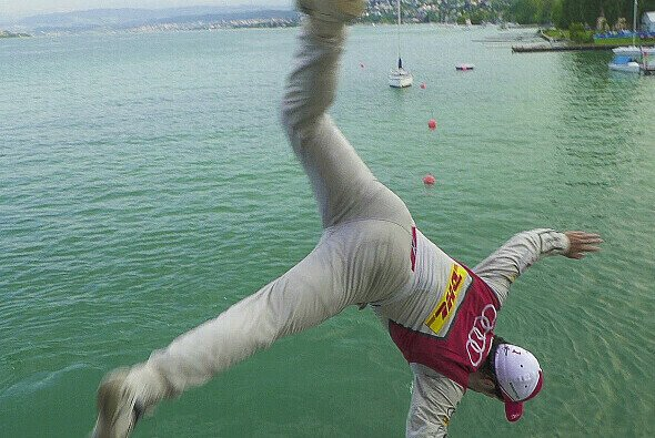 Hopp, Lucas! Hier geht Zürich-Sieger Lucas di Grassi baden - Foto: Audi Communications Motorsport