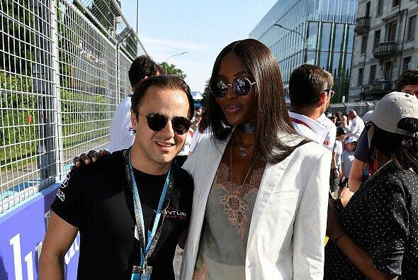 Felipe Massa traf im Grid beim Zürich ePrix Supermodel Naomi Campbell - Foto: FIA Formula E