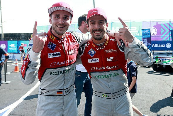 63 Rennen lang Teamkollegen bei Audi: Daniel Abt und Lucas di Grassi - Foto: Audi Communications Motorsport / Michael Kunkel