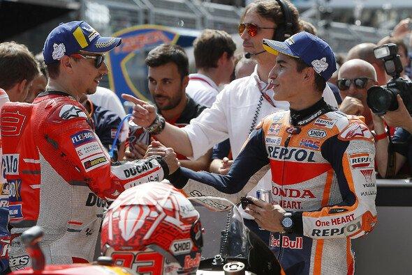 Lorenzo und Marquez scheinen ihren Streit beigelegt zu haben - Foto: HRC