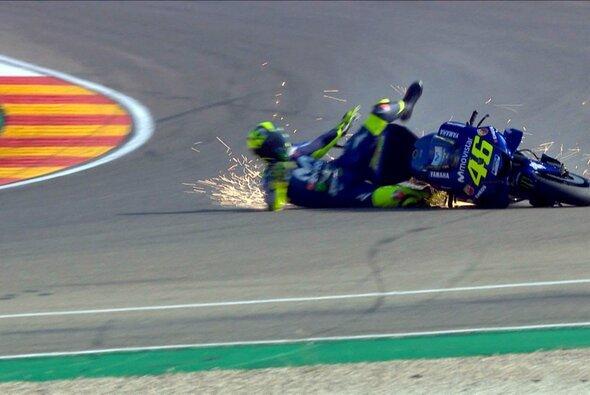Valentino Rossi schlitterte am Samstag in Aragon in ein Debakel - Foto: Screenshot/MotoGP