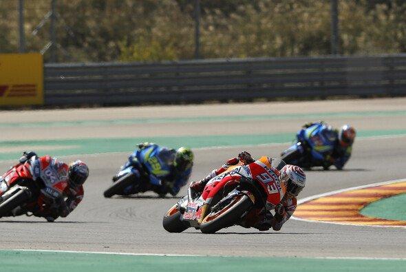 Marc Marquez besiegt beim Aragon-GP der MotoGP Andrea Dovizioso - Foto: Repsol