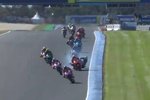 Hier berührten sich Marquez und Zarco - Foto: Screenshot/MotoGP