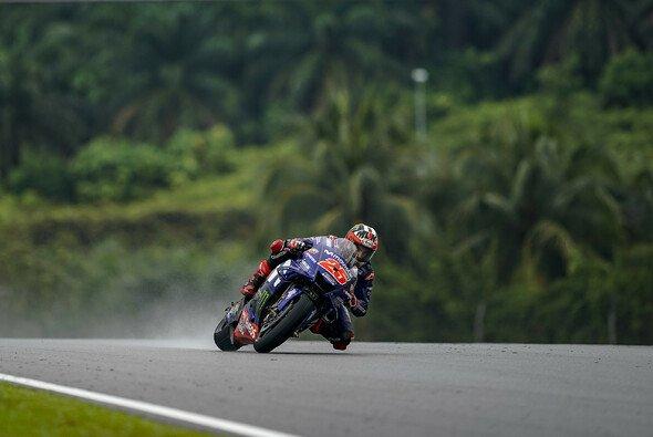 Maverick Vinales fühlte sich auf feuchter Strecke wohl - Foto: Yamaha