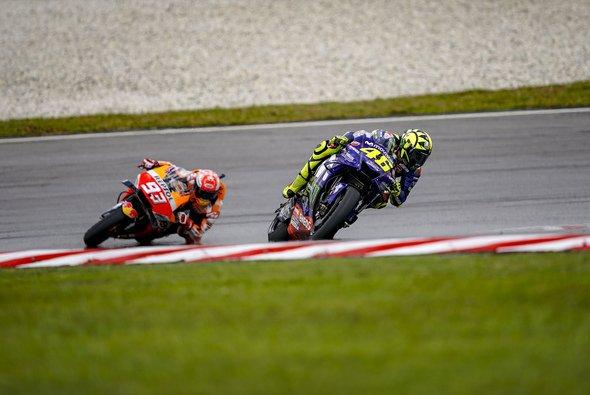 Zuletzt duellierten sich Rossi und Marquez 2018 in Sepang um den Sieg - Foto: Movistar Yamaha