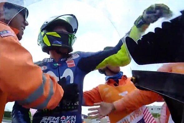Valentino Rossi hatte keine Lust auf Selfies - Foto: Screenshot/MotoGP