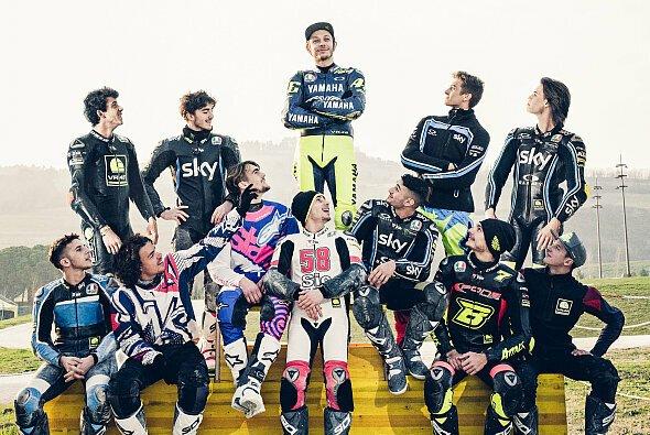 So inszenierte sich Valentino Rossi bereits 2018 - Foto: VR46 Riders Academy