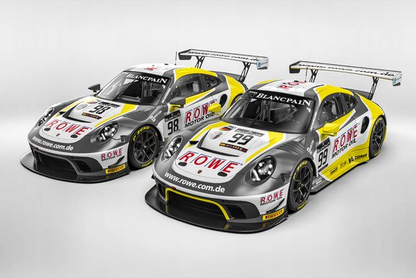 Die ROWE-Lackierung wird 2019 auch auf dem Porsche 911 GT3 R zu sehen sein - Foto: ROWE Racing