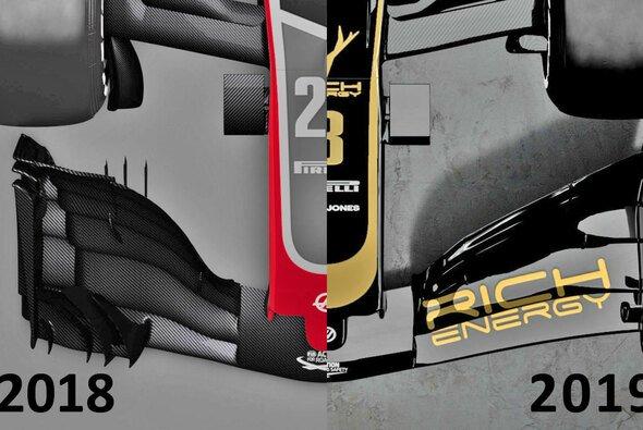 Formel 1 2019 vs. 2018: Die Unterschiede fallen an manchen Partien Reglement-bedingt groß aus - Foto: Haas F1 Team