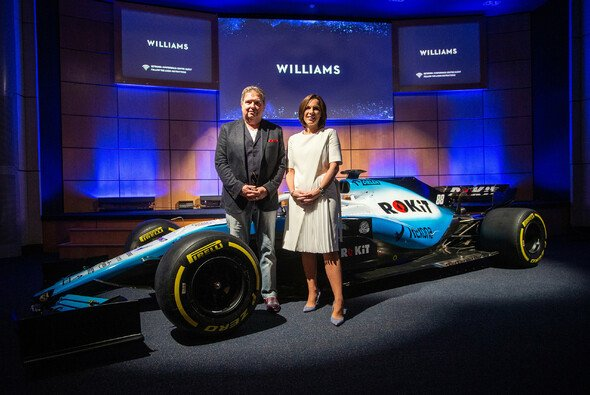 Jonathan Kendrick mit Claire Williams - Foto: Williams