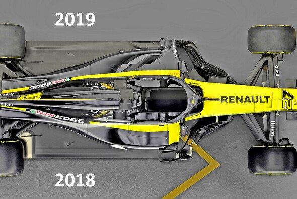 Der direkte Vergleich: Renault R.S. 19 oben und sein Vorgänger R.S. 18 unten - Foto: Renault