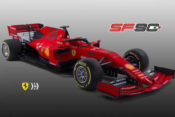 formel 1 ferrari pr sentation 2019 vettels auto in neuem rot. Black Bedroom Furniture Sets. Home Design Ideas