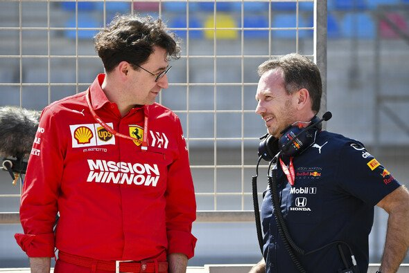 Ferrari-Chef Mattia Binotto und Red-Bull-Chef Christian Horner - Foto: LAT Images