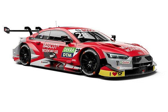 Hier kommt der rote Audi RS 5 DTM von Loic Duval für die Saison 2019 - Foto: Audi Communications Motorsport