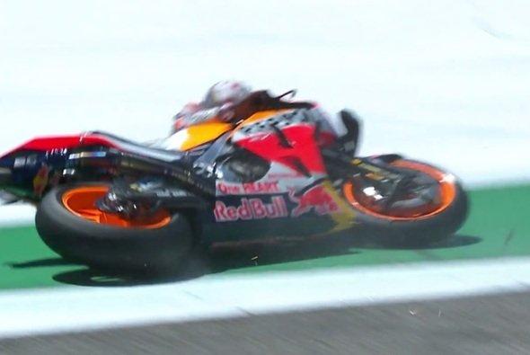 Marc Marquez verspielte in Austin einen sicher geglaubten Sieg - Foto: Screenshot/MotoGP