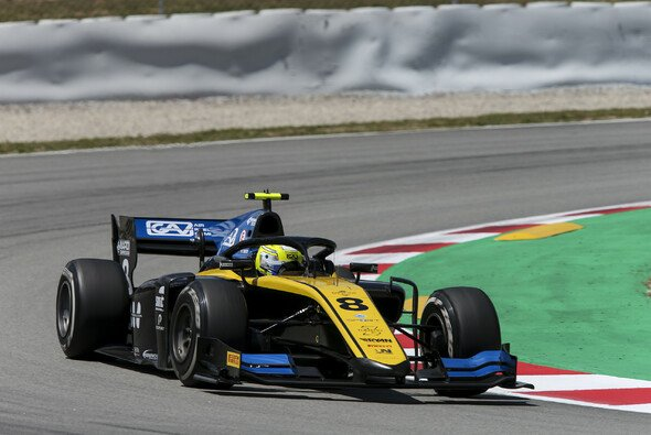 Luca Ghiotto holt in Spanien die Formel-2-Pole - Foto: LAT Images