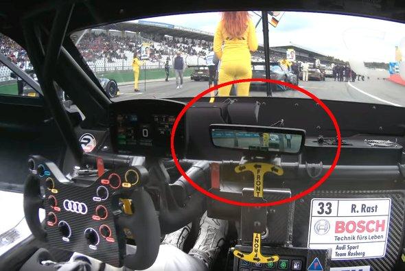 Bei Rene Rasts Audi funktionierte das Heckkamera-System größtenteils - Foto: DTM / Youtube